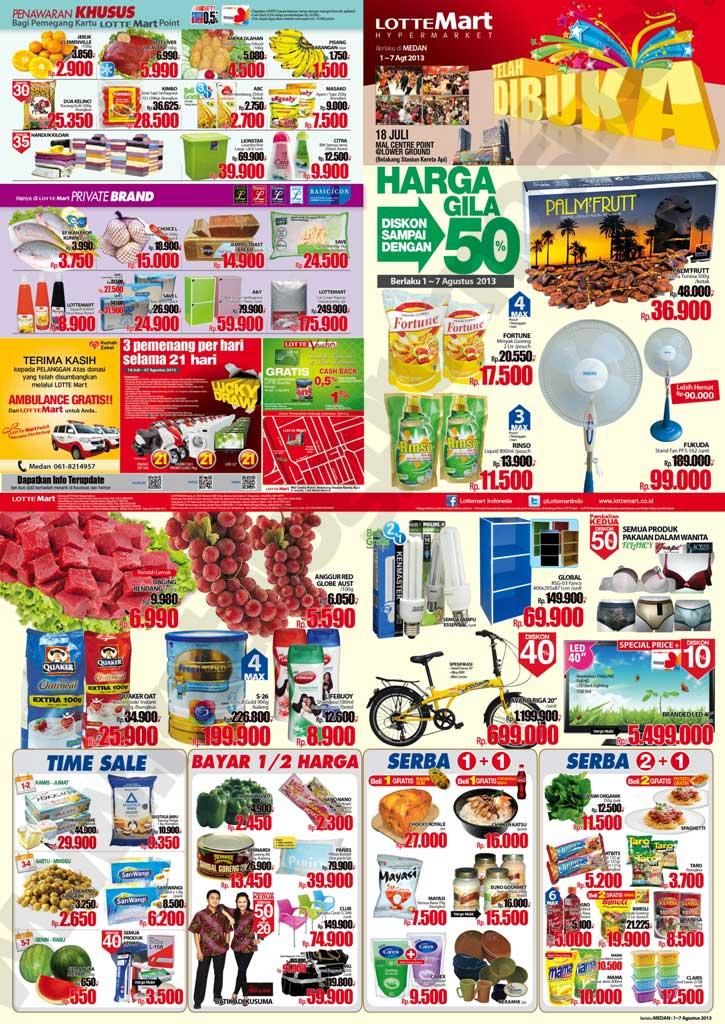 ... dan Promo Lottemart Terbaru (Weekly Promo) Periode 1 - 7 Agustus 2013