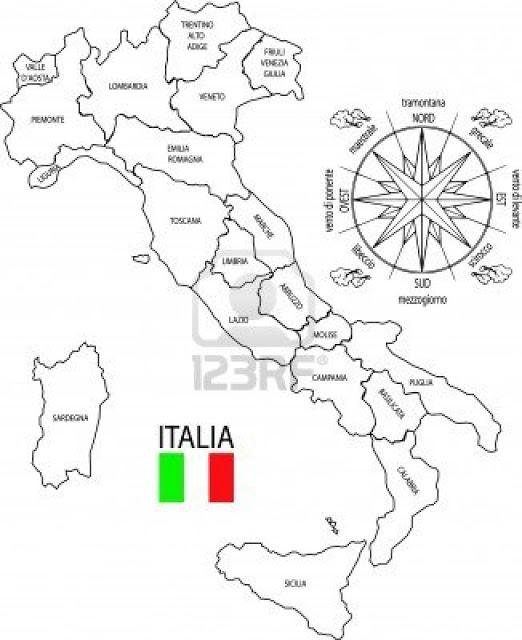 Laminas para Colorear | Coloring Pages: Mapa y Bandera de Italia ...