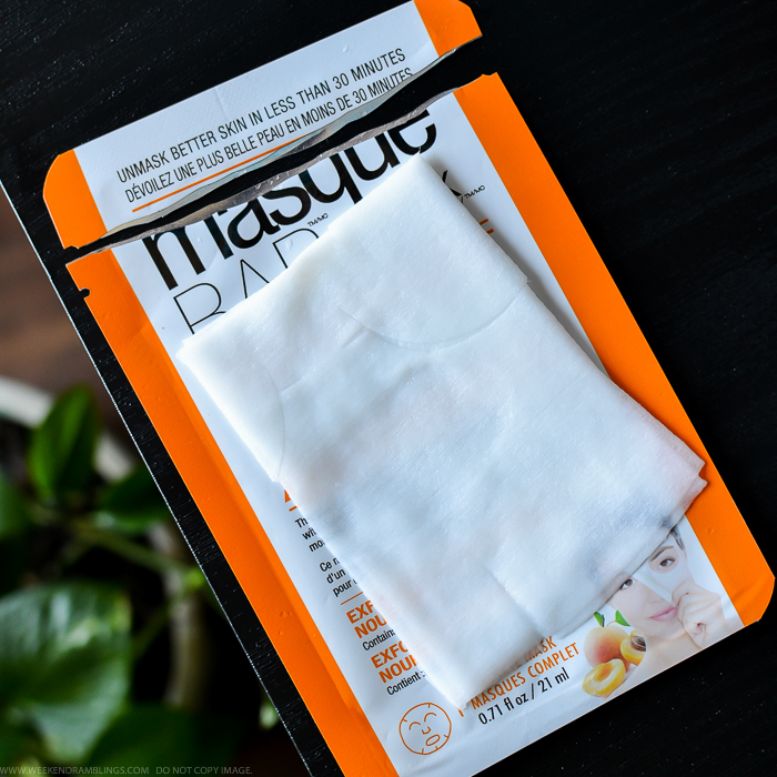 Masque Bar by Look Beauty Apricot Sheet Face Mask review