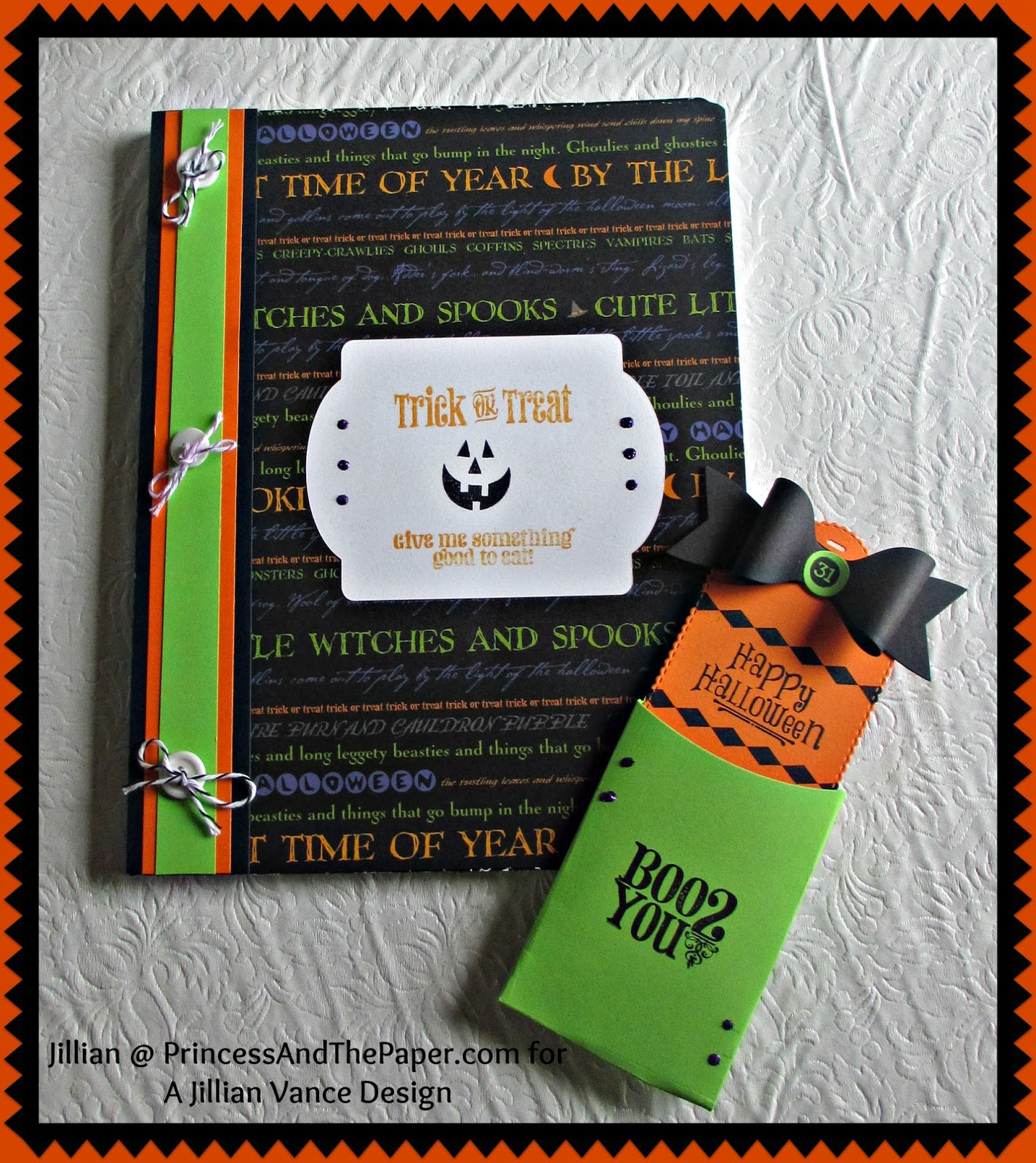 a jillian vance design halloween notebook. Black Bedroom Furniture Sets. Home Design Ideas