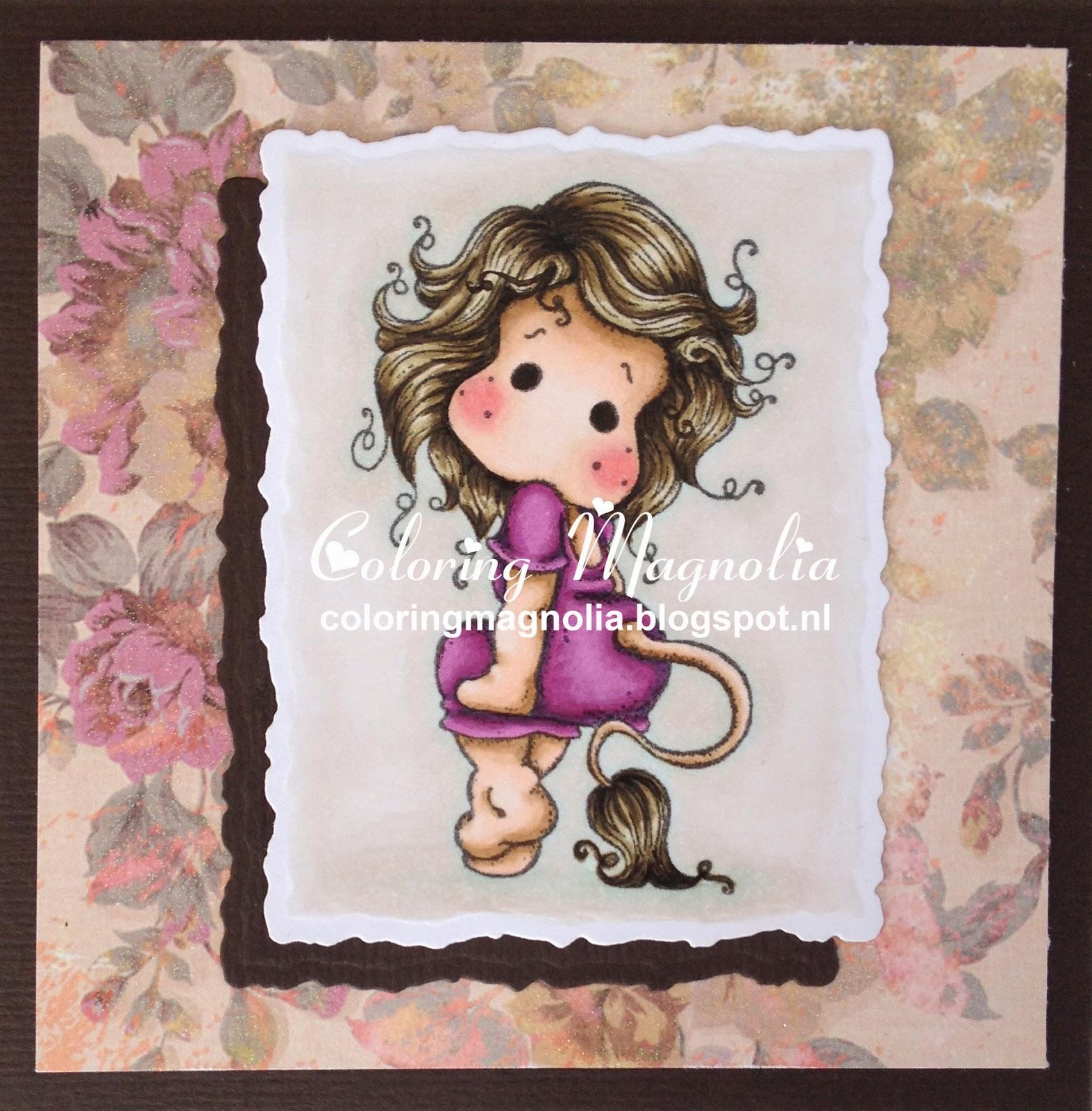 Coloring Magnolia Stamp 2014 Zodiac Collection - Leo Tilda