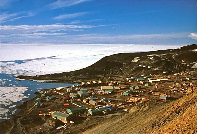 photo taken form Observation Hill of McMurdo Station, 1989