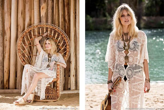 Bendito Pie primavera verano 2016. Moda primavera verano 2016. Kimonos y vestidos con transpaencias.