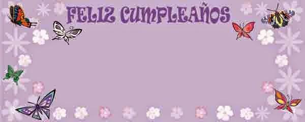Tarjetas de Cumpleaños con Mariposas, parte 2