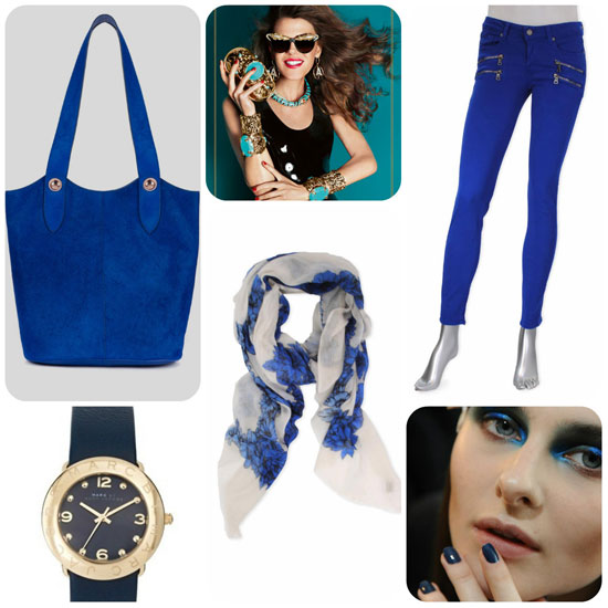 Blue Trend in Fashion and Beauty 