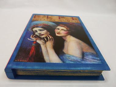 Caixa-Livro com Découpage e Pintura