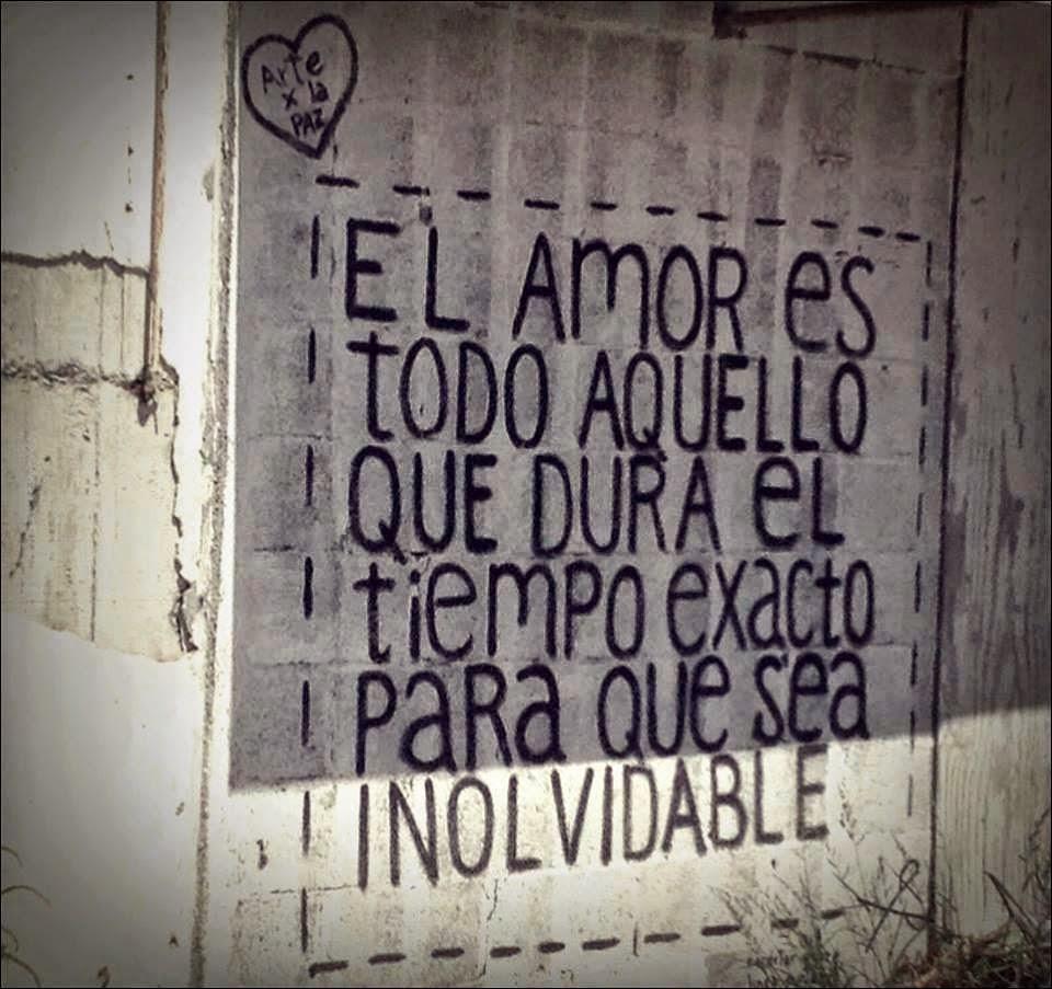 Frases de amor, tiempo, exacto, inolvidable.