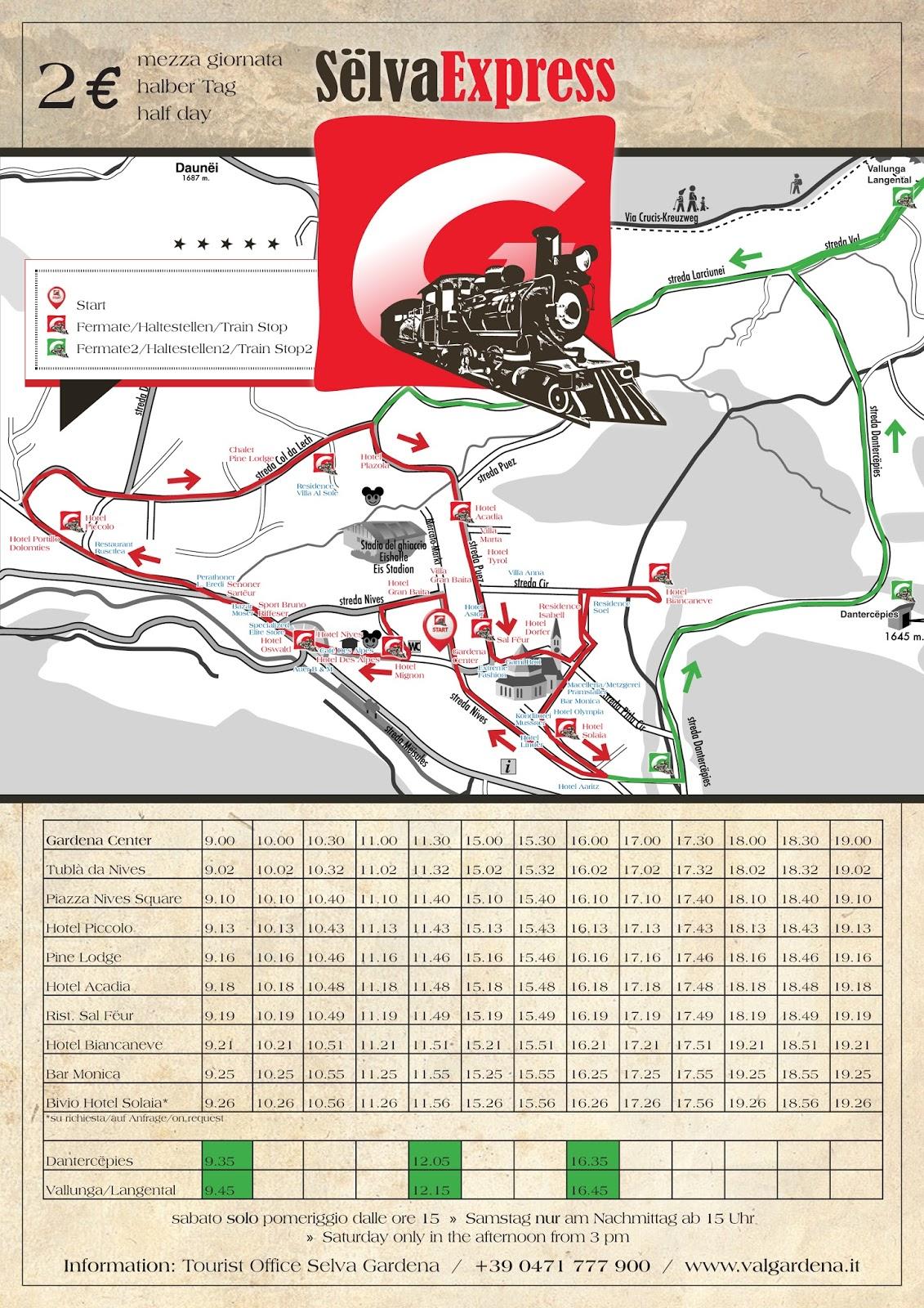 DOLOMITES Val Gardena: Trenino turistico in Val Gardena - Sëlva Express