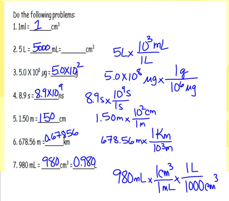 Dimensional Analysis Worksheet More dimensional analysis