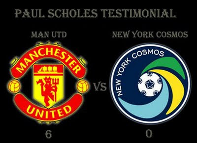 Manchester United vs New York Cosmos Paul Scholes Testimonial