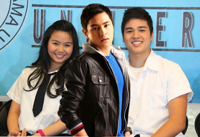 Miles Ocampo, Arvic Rivero and Marco Gumabao