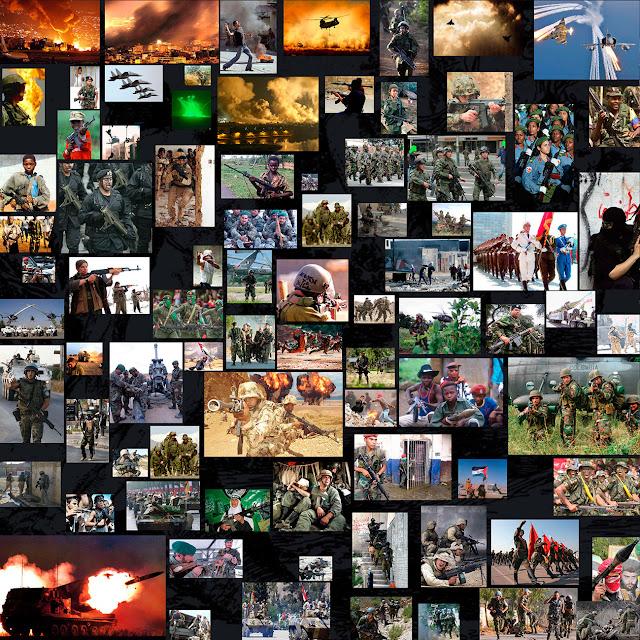 militares, guerra, colage fotografico