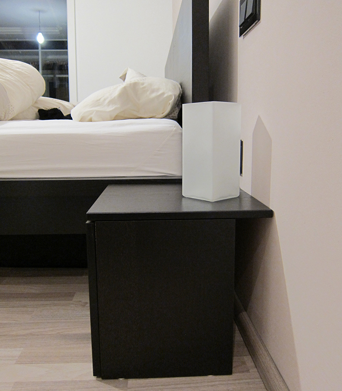 ikea malm attached nightstand. Black Bedroom Furniture Sets. Home Design Ideas