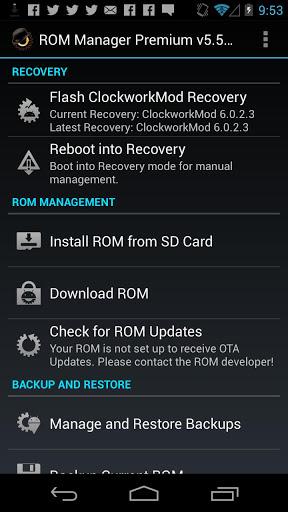 ROM Manager (Premium) v5.5.3.0 [APK] [Full] [Zippyshare] 1
