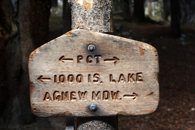sign hiking PCT