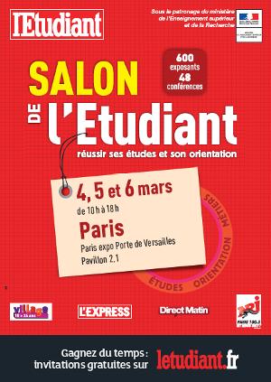 Salon de l 39 tudiant paris 15e paris 15 for Salon etudiant porte de versailles 2016