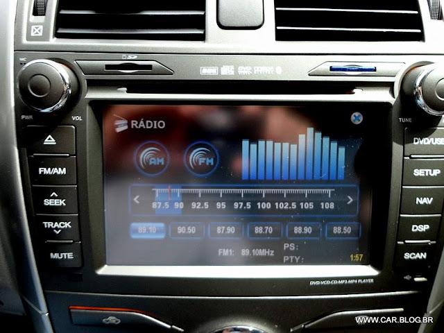 Corolla XEi 2013 2.0 Flex Automático - sistema multimidia