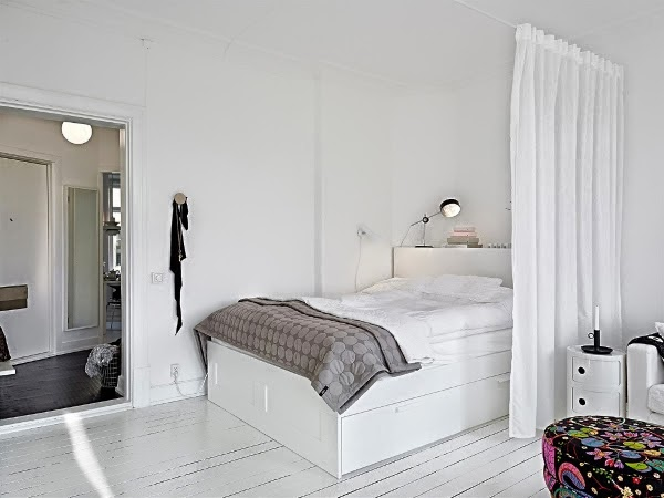 My scandinavian home a perfect swedish apartment for a spring day - Romantische witte bed ...