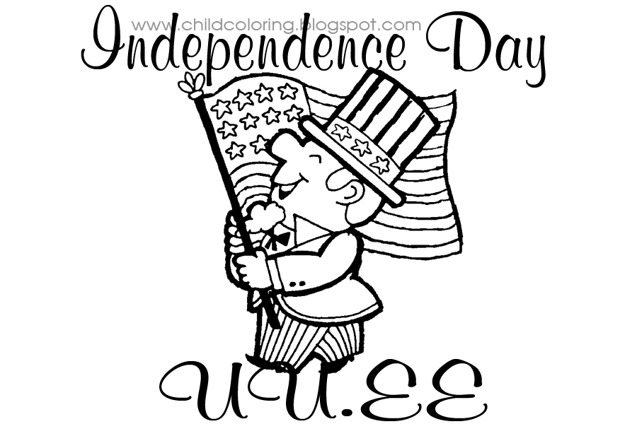 Independence day coloring child coloring for Independence day coloring pages