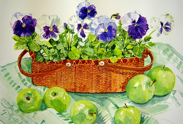 Nantucket Pansies - Martha Marlette