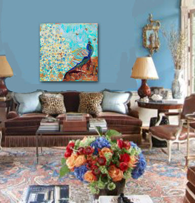 decorating ideas for the living room with peacock decor