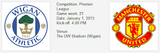 Wigan vs mu