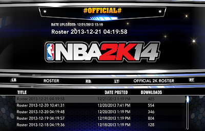 Roster Update For NBA 2K14