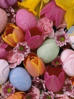 Uskrsna jaja i cvijeće download besplatne pozadine slike za mobitele
