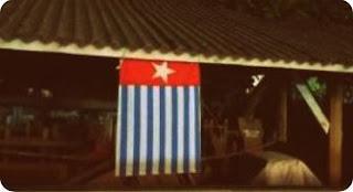 Bintang Kejora Berkibar di Depan SD Kuta Bali