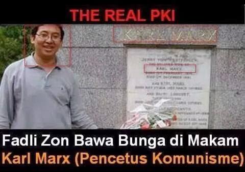 Fadlizon Ziarah kemakam Kar Max Tokoh Komunis