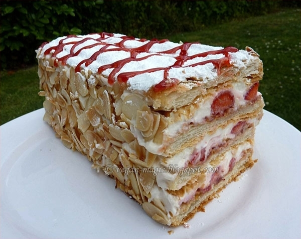 Strawberry Mille-Feuille « Vegan Recipes « Vegan Magic
