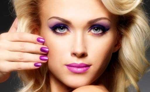 Como hacer un maquillaje en tonos violetas espectacular