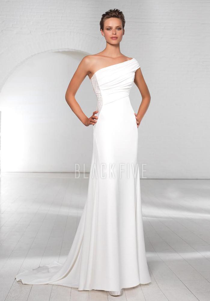 Wedding & Prom Fashion: Favorite wedding gown neckline: One shoulder