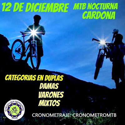 MTB - Nocturna de Cardona (Soriano, 12/dic/2015)