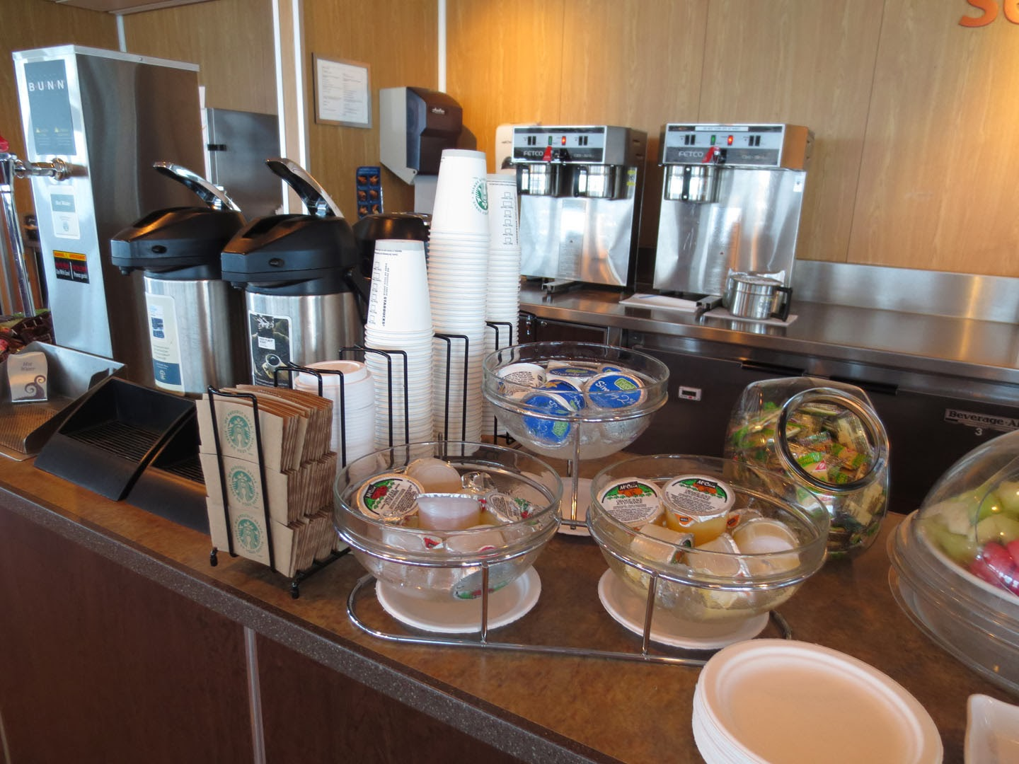Complimentary Cofee at Seawest Lounge, BC Ferry