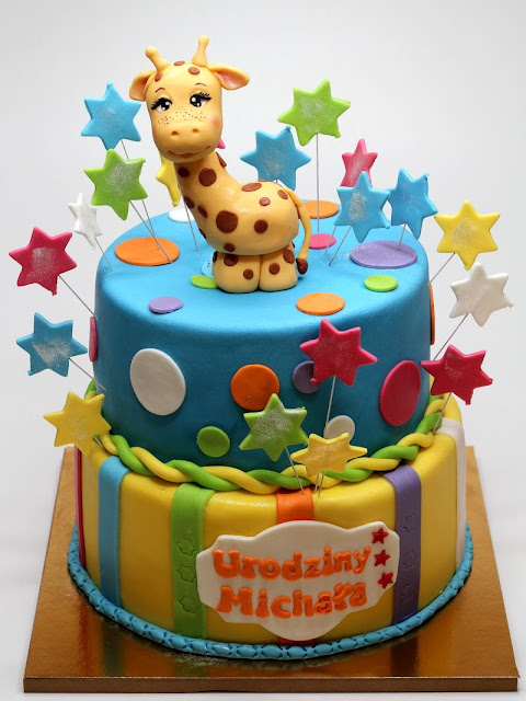 Birthday Cake with Giraffe - Cake Shop in Surrey, London