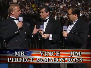 WWF / WWE SURVIVOR SERIES 95 - Mr. Perfect, Jim Ross and Vince McMahon commentate