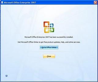 Cara 7 Instal Microsoft Office 2007