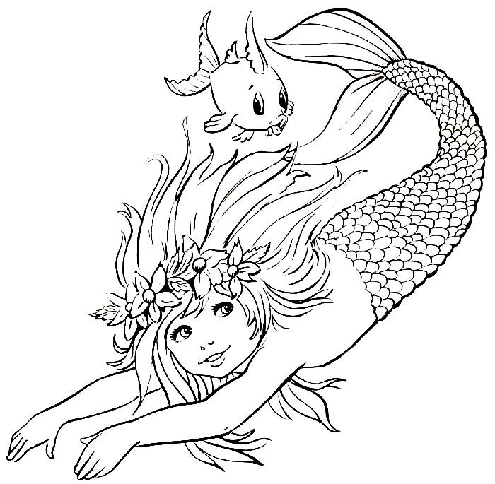 O mundo colorido 32 desenhos de sereias para imprimir e for Sirene exterieure risco