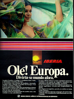propaganda Iberia - 1974.  os anos 70; propaganda na década de 70; Brazil in the 70s, história anos 70; Oswaldo Hernandez;