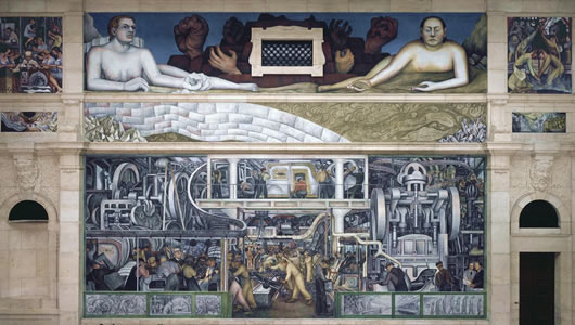 Swann auction galleries diego rivera 39 s interpretation of for Detroit industry mural