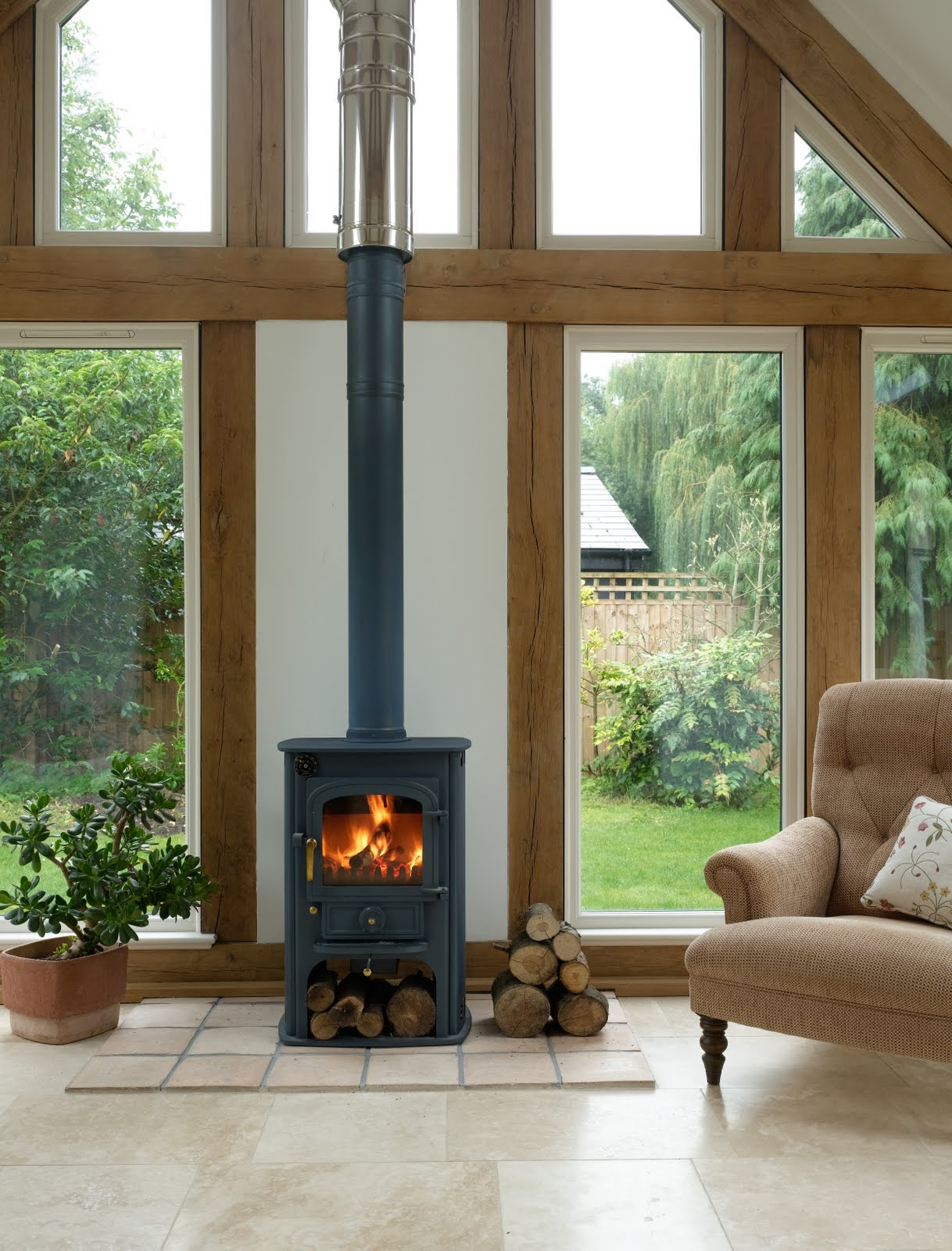From little acorns oak frame garden room or oak for Wooden garden rooms extensions