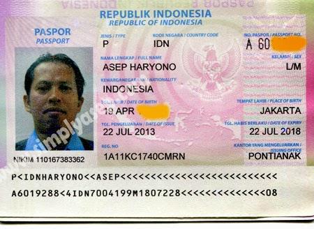 paspor Asep Haryono