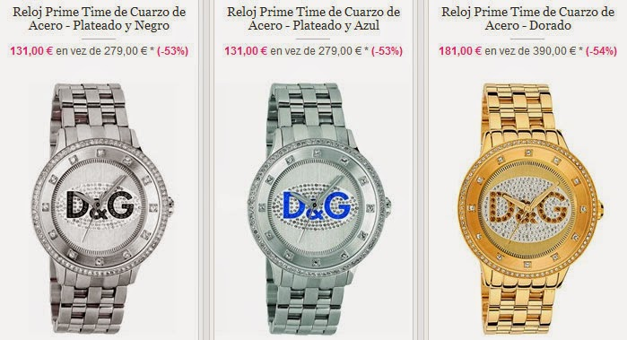 Relojes de acero de DG en oferta
