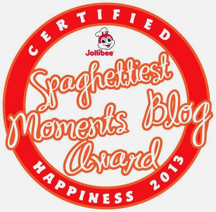 Jollibee Spaghettiest Moments Blog Award