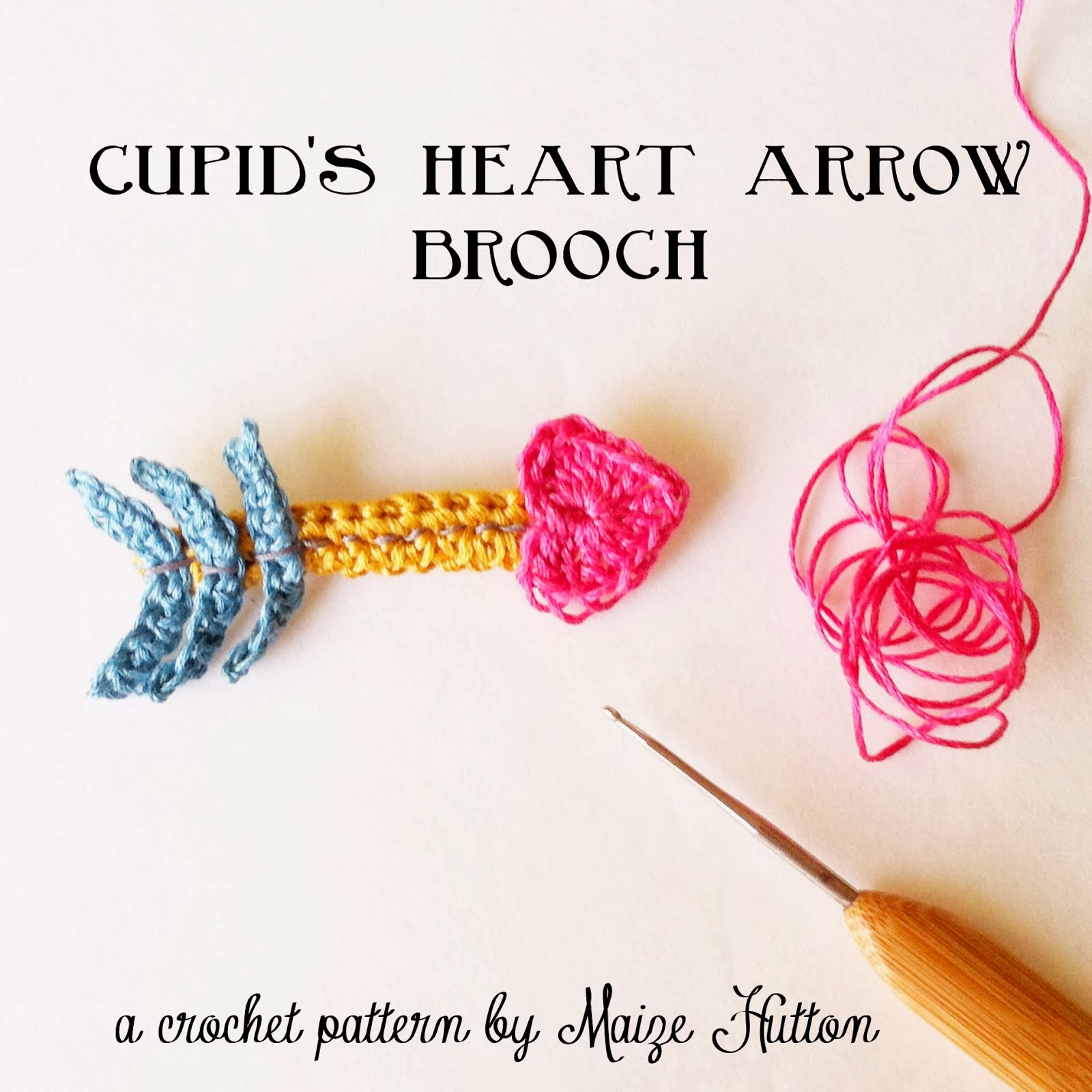 Cupid's Heart Arrow Brooch