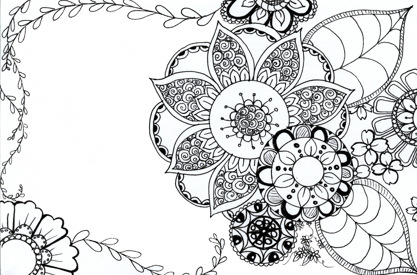 Tarkheena Crafts: Flower Coloring Pages