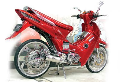 modifikasi motor supra x