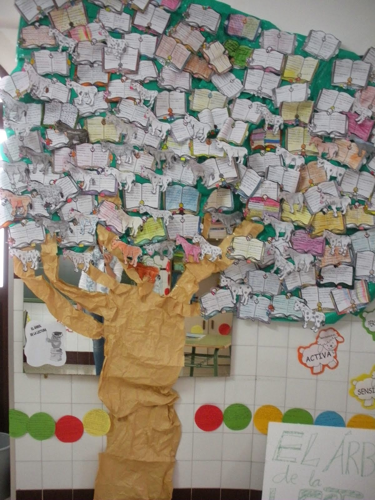 Nuestro árbol lleno de Plateros leyendo.