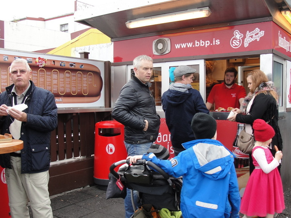 Bæjarins Bestu Pylsur hot dog stand in Reykjavik, Iceland